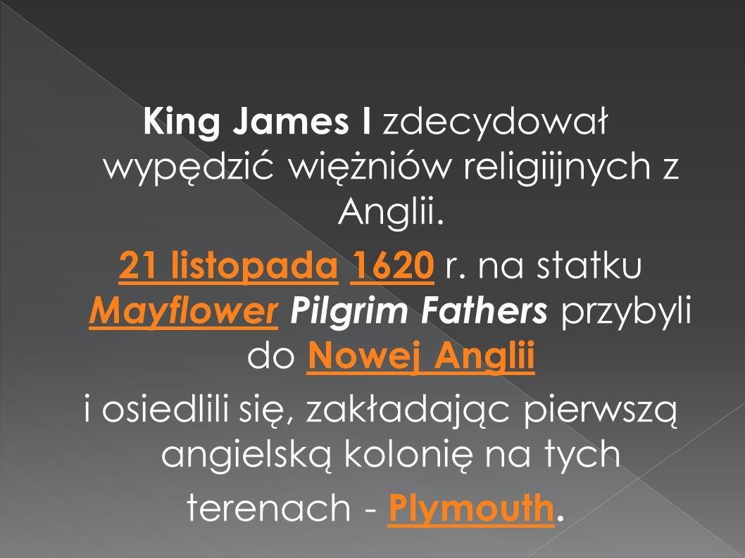 King James I zdecydował wypędzić więżniów religiijnych z Anglii
