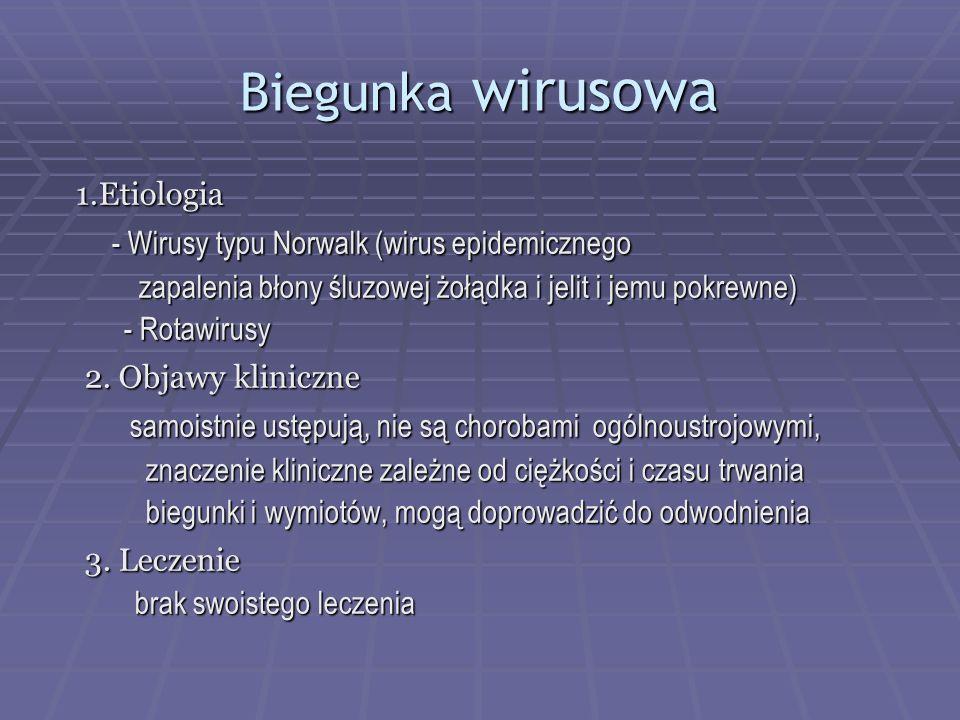 Biegunka wirusowa 1.Etiologia
