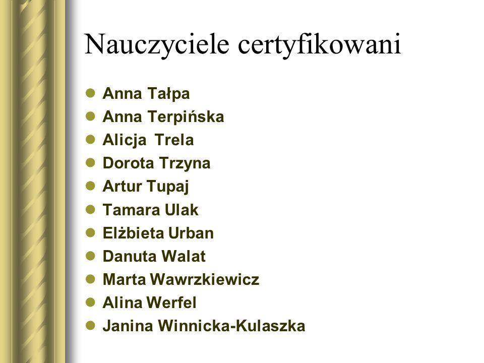 Nauczyciele certyfikowani