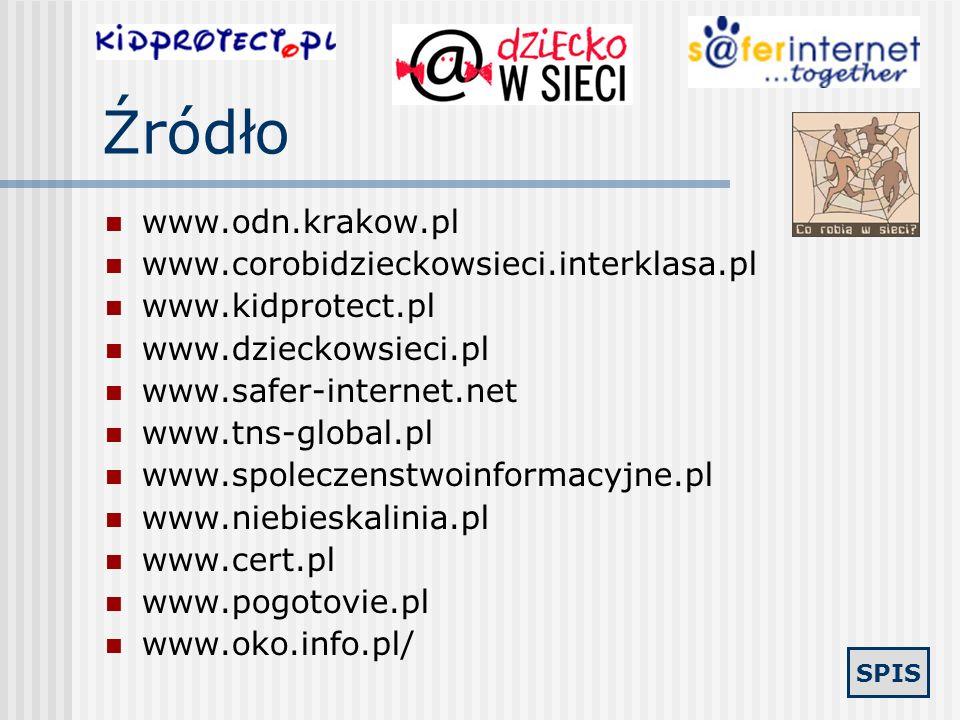 Źródło www.odn.krakow.pl www.corobidzieckowsieci.interklasa.pl