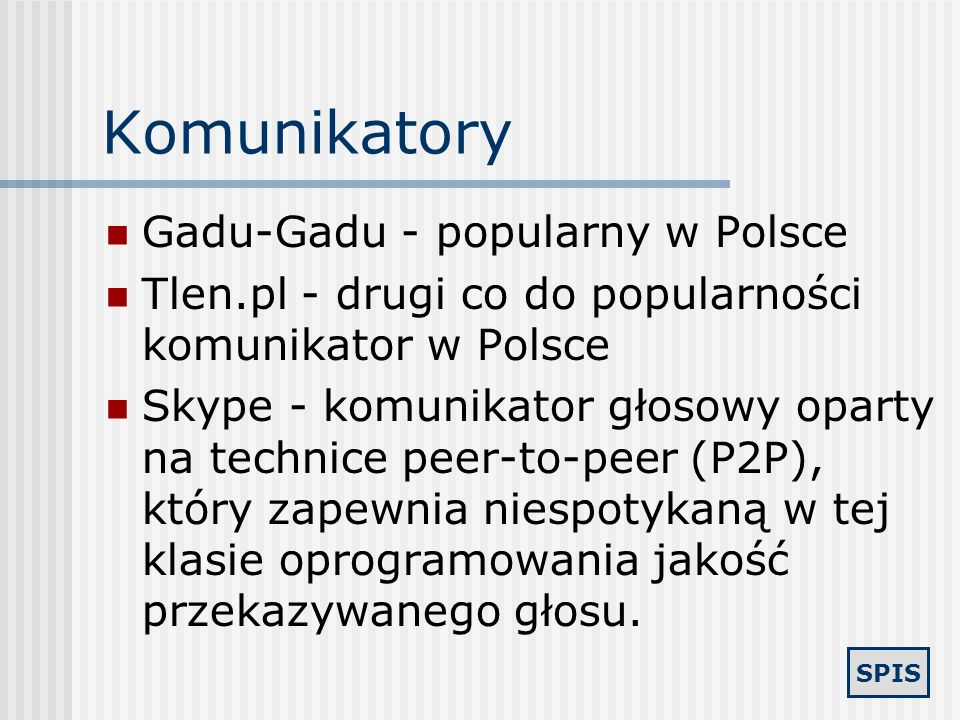Komunikatory Gadu-Gadu - popularny w Polsce