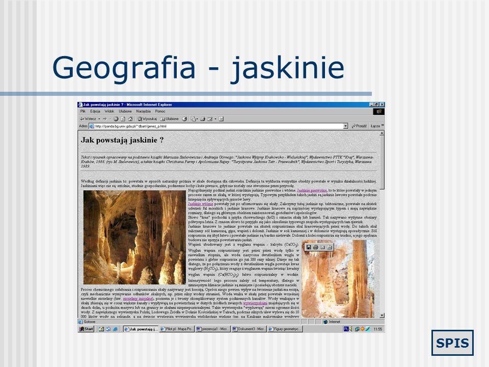 Geografia - jaskinie