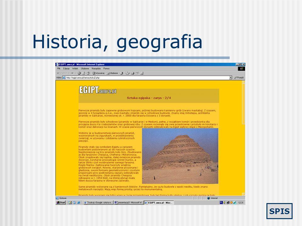 Historia, geografia