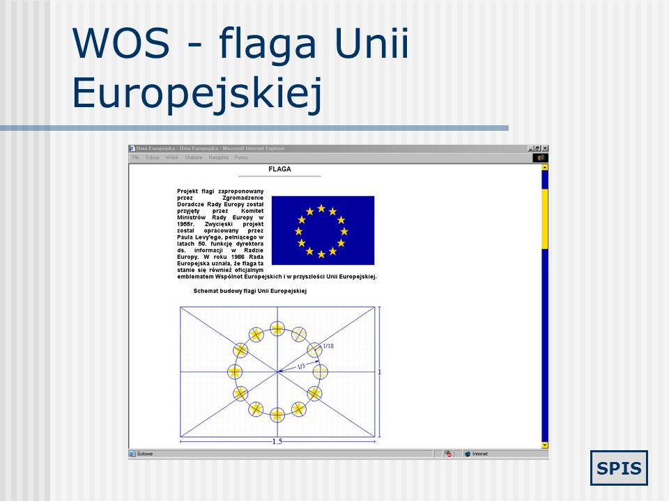 WOS - flaga Unii Europejskiej