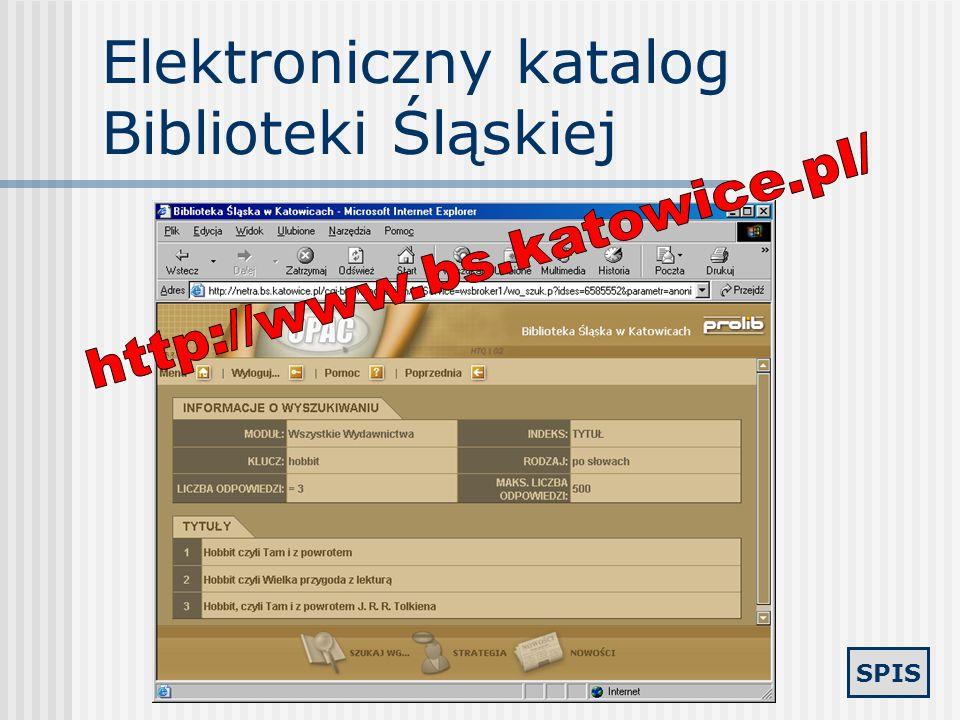 Elektroniczny katalog Biblioteki Śląskiej