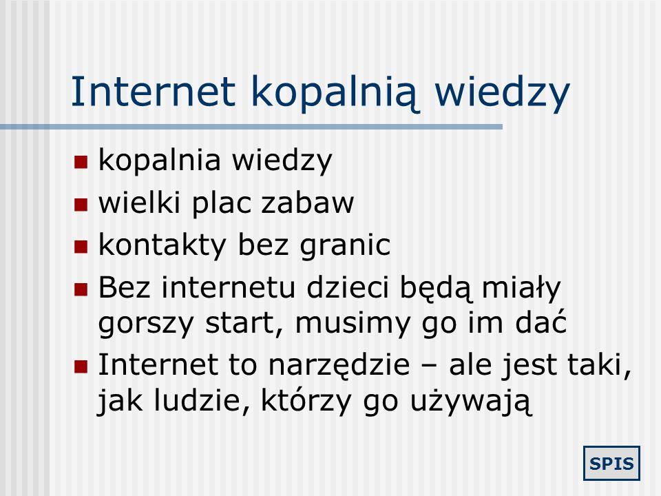 Internet kopalnią wiedzy