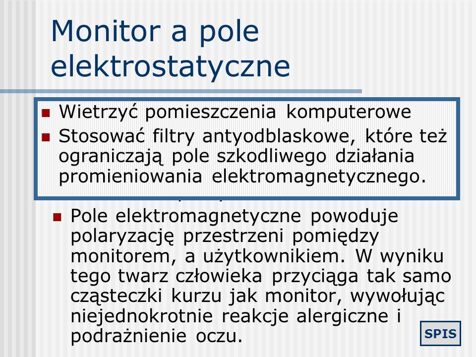 Monitor a pole elektrostatyczne