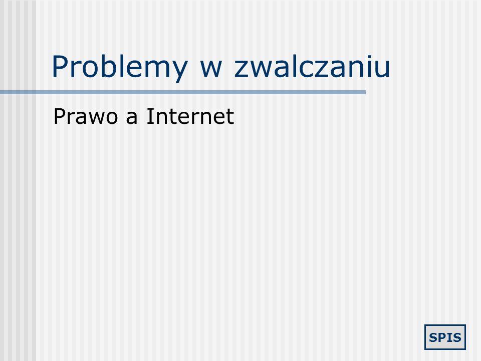 Problemy w zwalczaniu Prawo a Internet