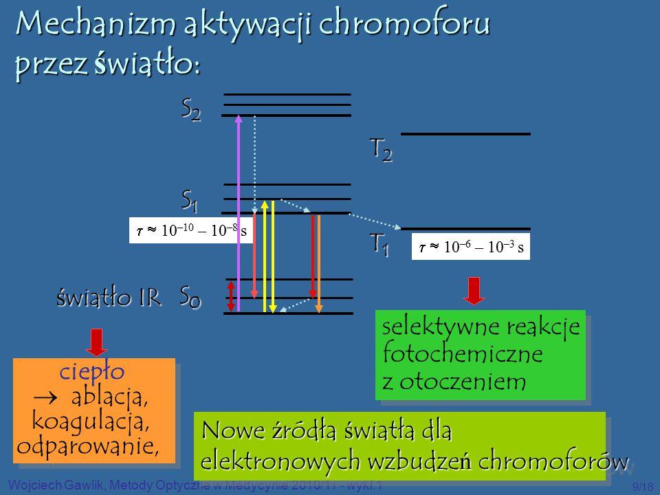 Mechanizm aktywacji chromoforu przez światło: