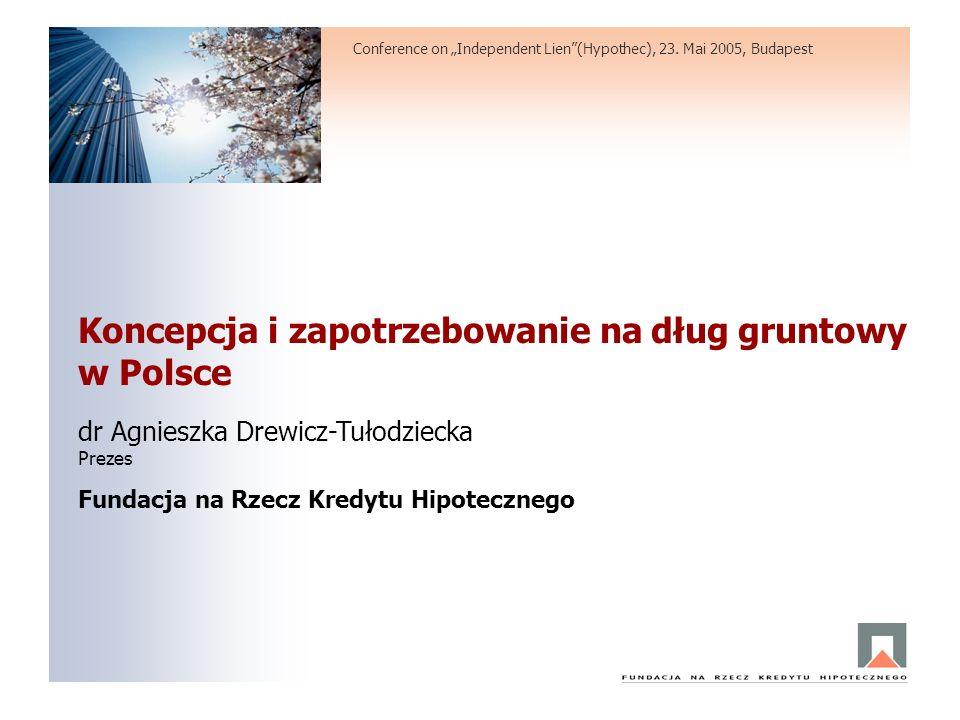Koncepcja i zapotrzebowanie na dług gruntowy w Polsce