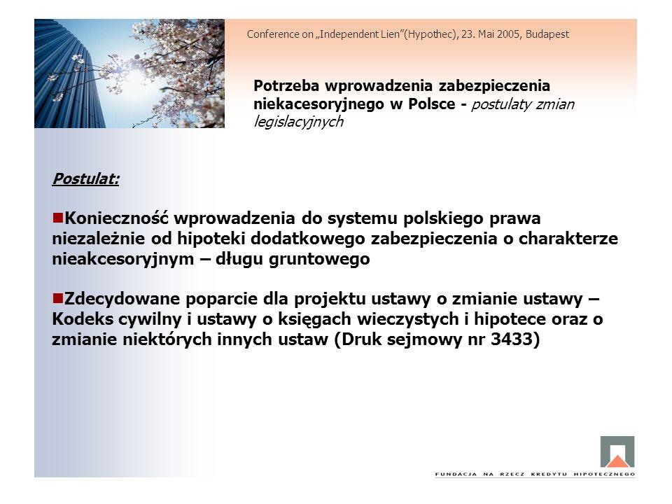 Potrzeba wprowadzenia zabezpieczenia niekacesoryjnego w Polsce - postulaty zmian legislacyjnych