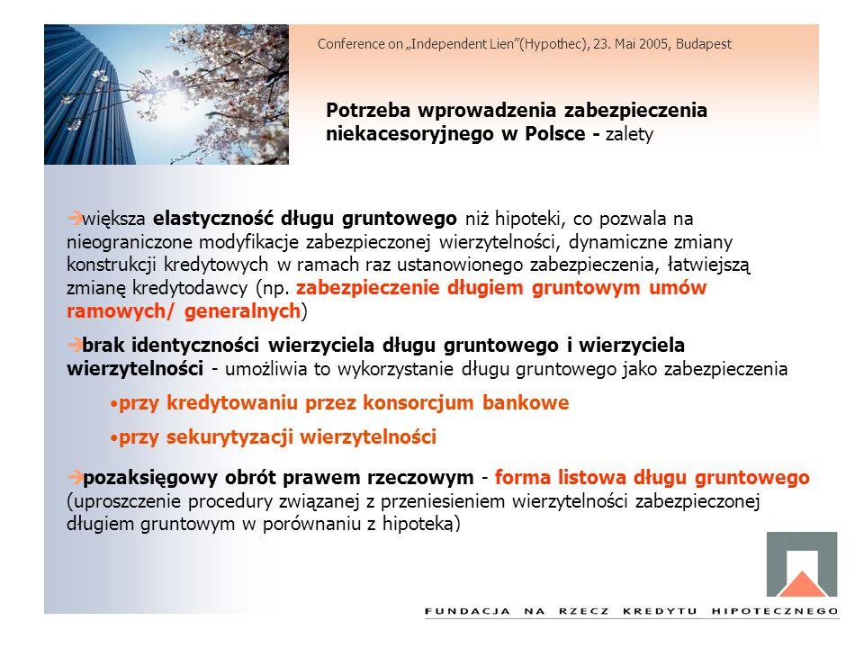 Potrzeba wprowadzenia zabezpieczenia niekacesoryjnego w Polsce - zalety