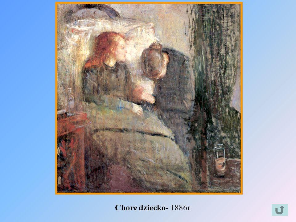 Chore dziecko- 1886r.