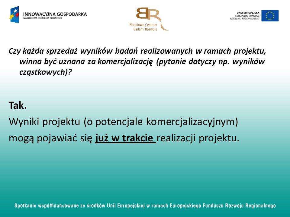 Wyniki projektu (o potencjale komercjalizacyjnym)