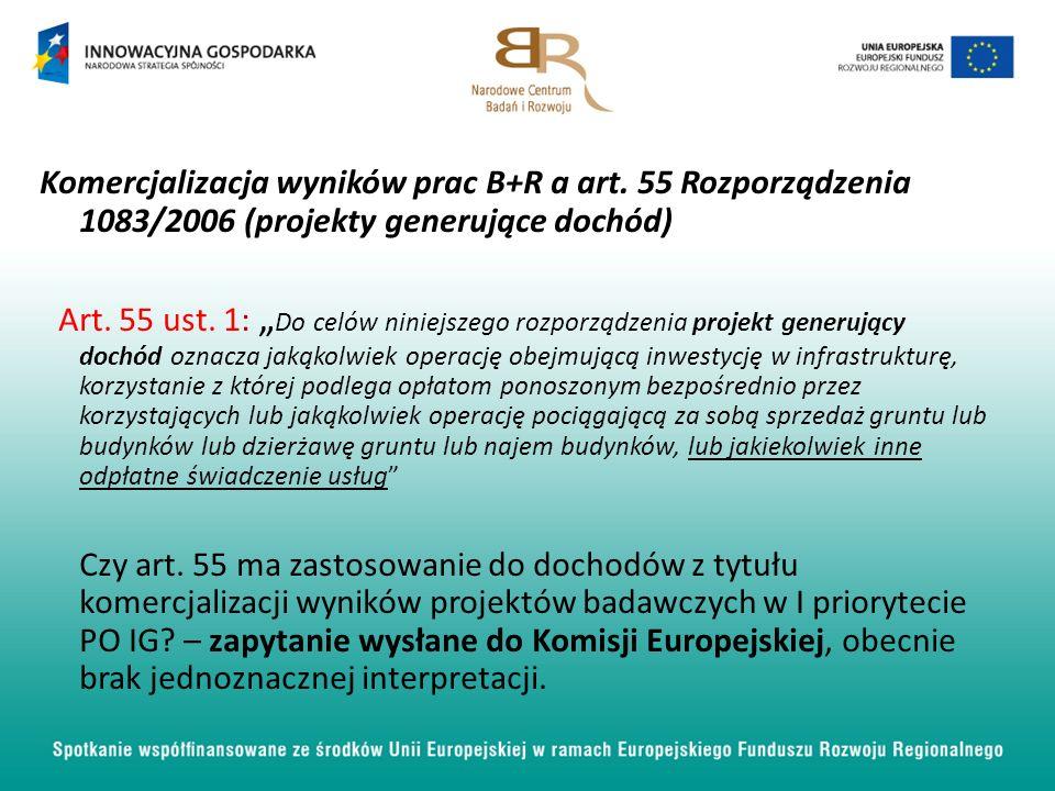 Komercjalizacja wyników prac B+R a art