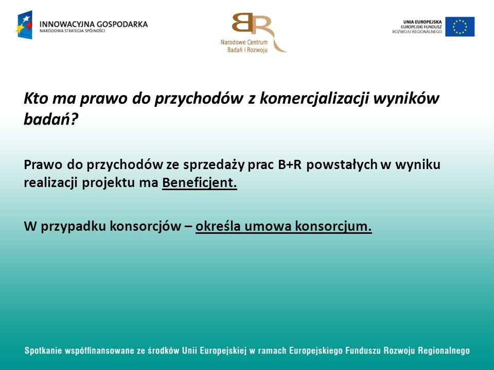 Kto ma prawo do przychodów z komercjalizacji wyników badań