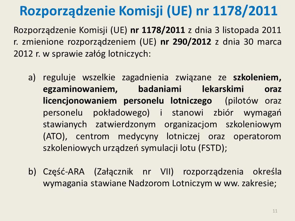 Rozporządzenie Komisji (UE) nr 1178/2011