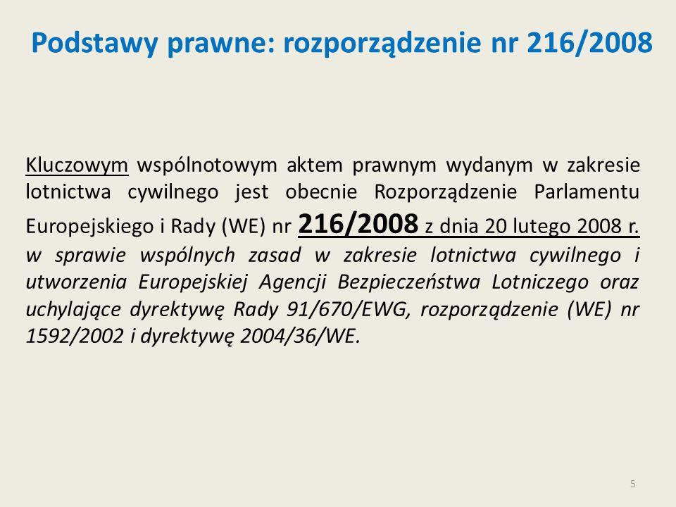 Podstawy prawne: rozporządzenie nr 216/2008