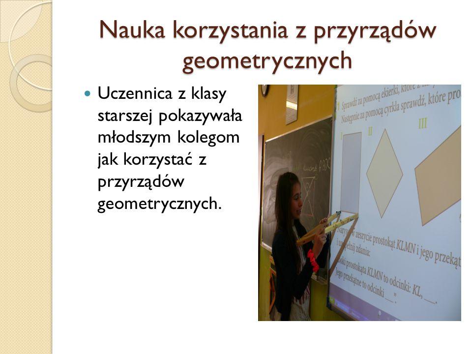 Nauka korzystania z przyrządów geometrycznych