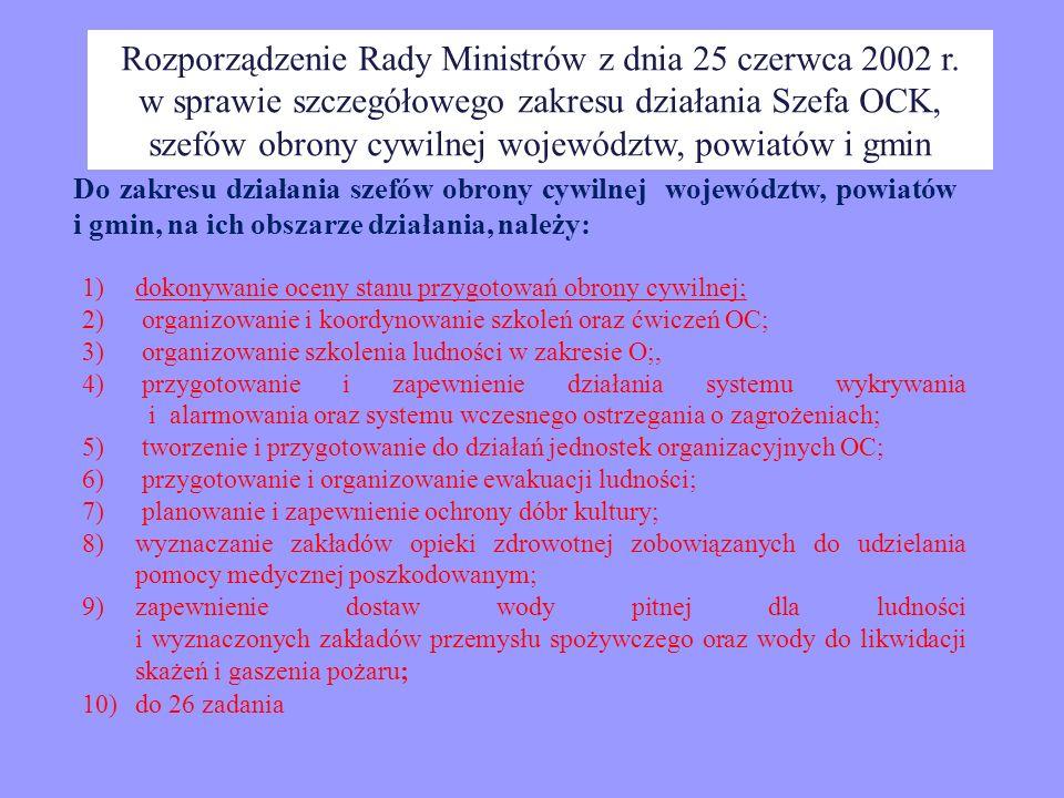 Rozporządzenie Rady Ministrów z dnia 25 czerwca 2002 r