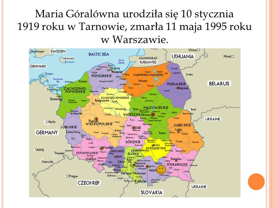 Maria Góralówna urodziła się 10 stycznia