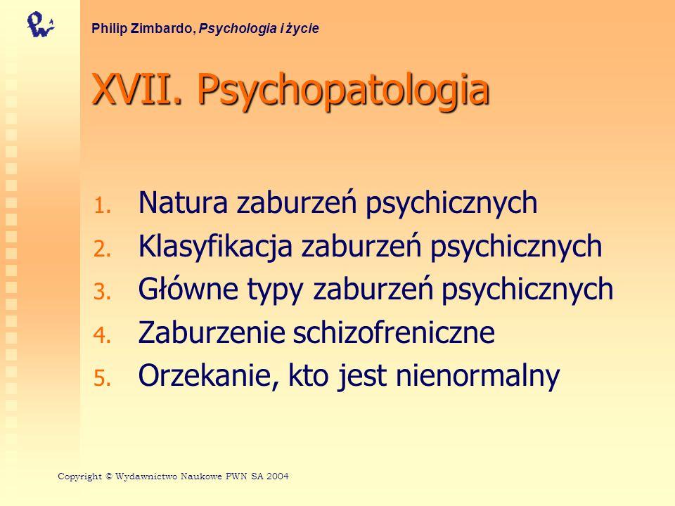 XVII. Psychopatologia Natura zaburzeń psychicznych