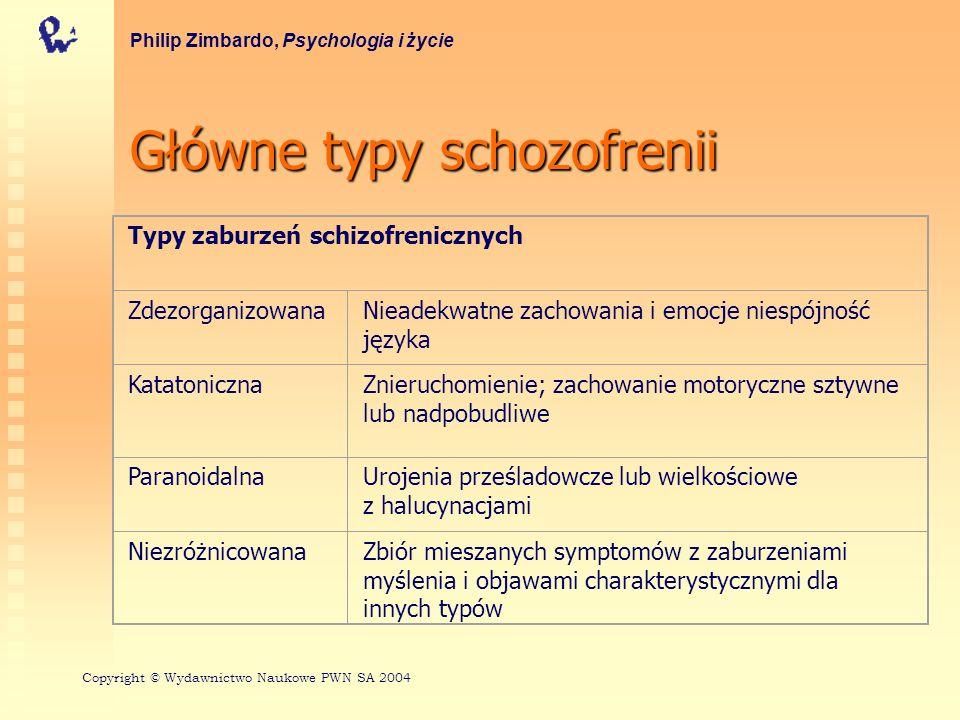 Główne typy schozofrenii