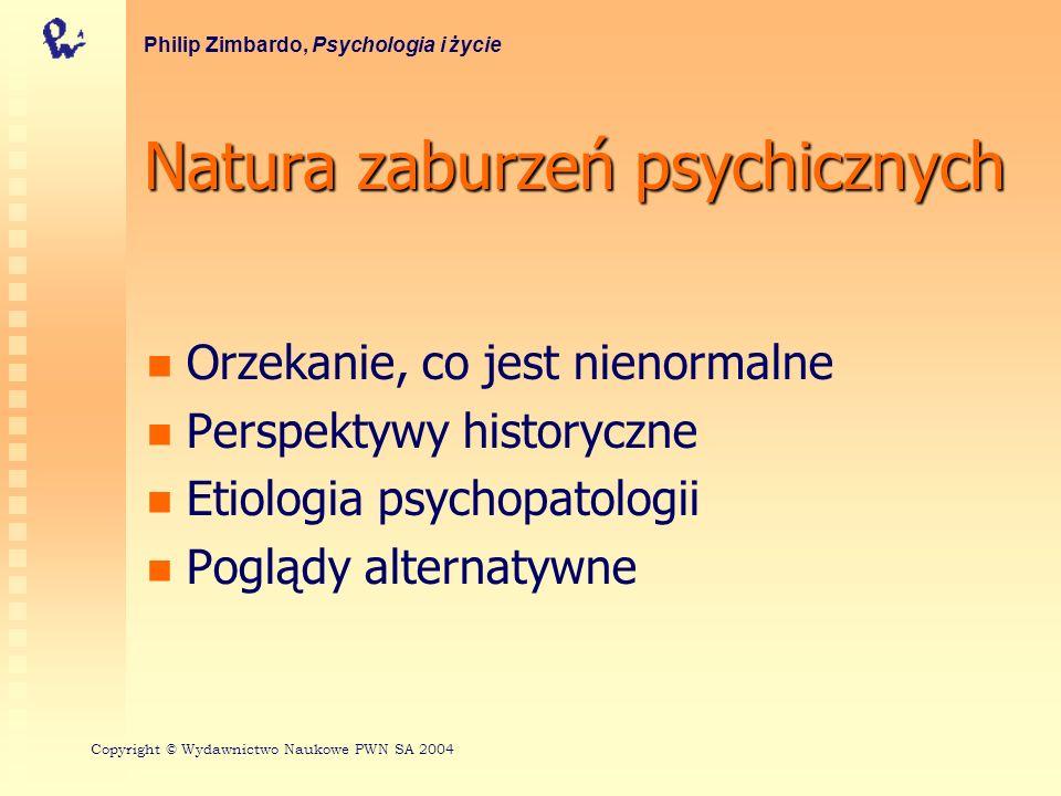 Natura zaburzeń psychicznych