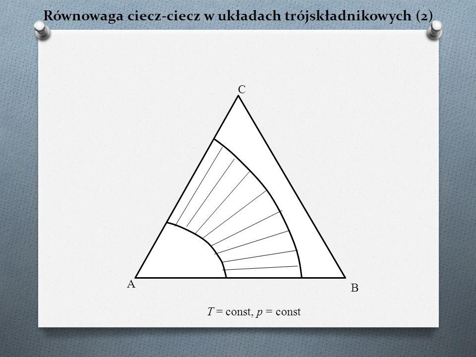 Równowaga ciecz-ciecz w układach trójskładnikowych (2)