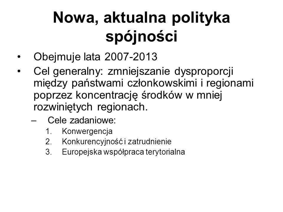 Nowa, aktualna polityka spójności