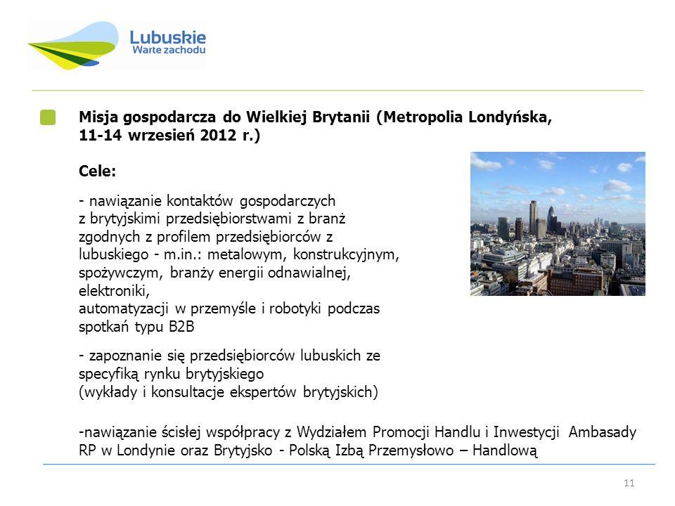 Misja gospodarcza do Wielkiej Brytanii (Metropolia Londyńska,