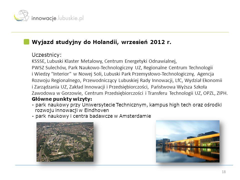 Wyjazd studyjny do Holandii, wrzesień 2012 r. Uczestnicy: