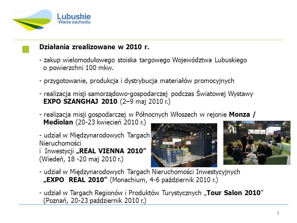 Działania zrealizowane w 2010 r.