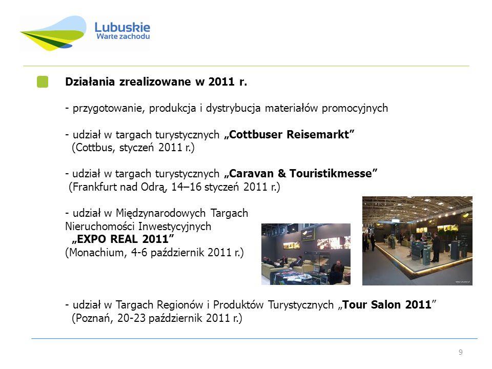 Działania zrealizowane w 2011 r.