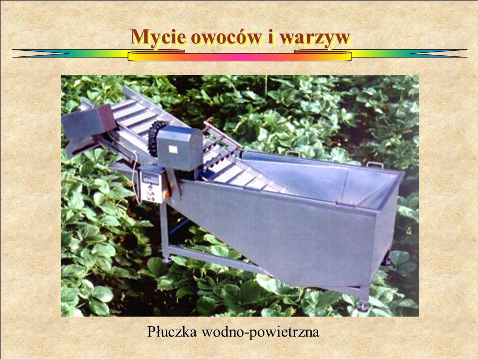 Mycie owoców i warzyw Płuczka wodno-powietrzna