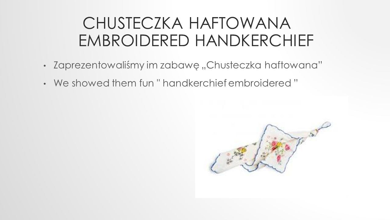 Chusteczka haftowana embroidered handkerchief