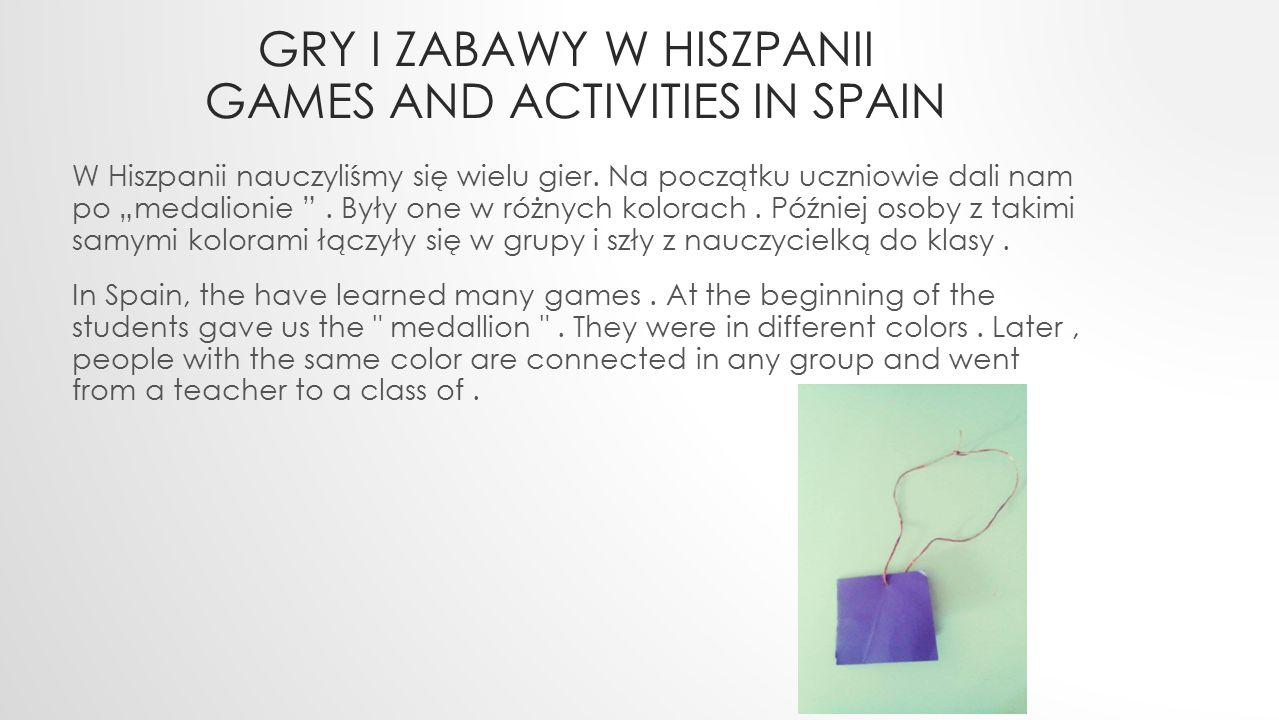 Gry i zabawy w hiszpanii games and activities in Spain