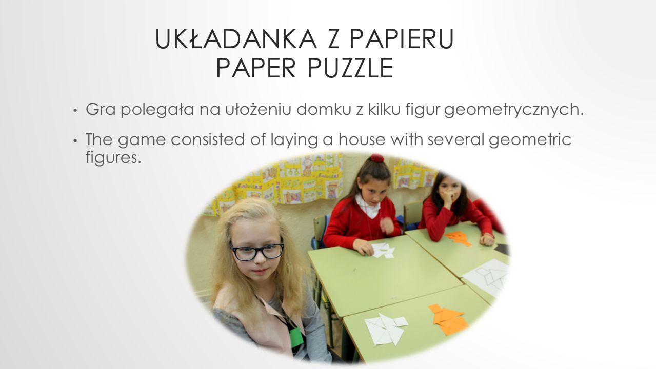 Układanka z papieru paper puzzle
