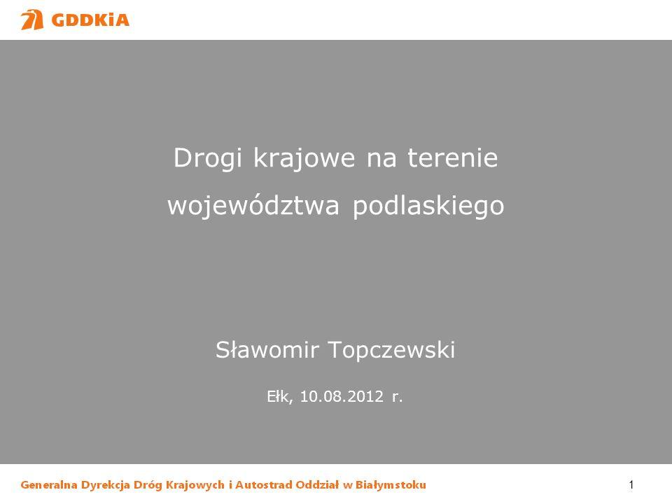 Drogi krajowe na terenie województwa podlaskiego