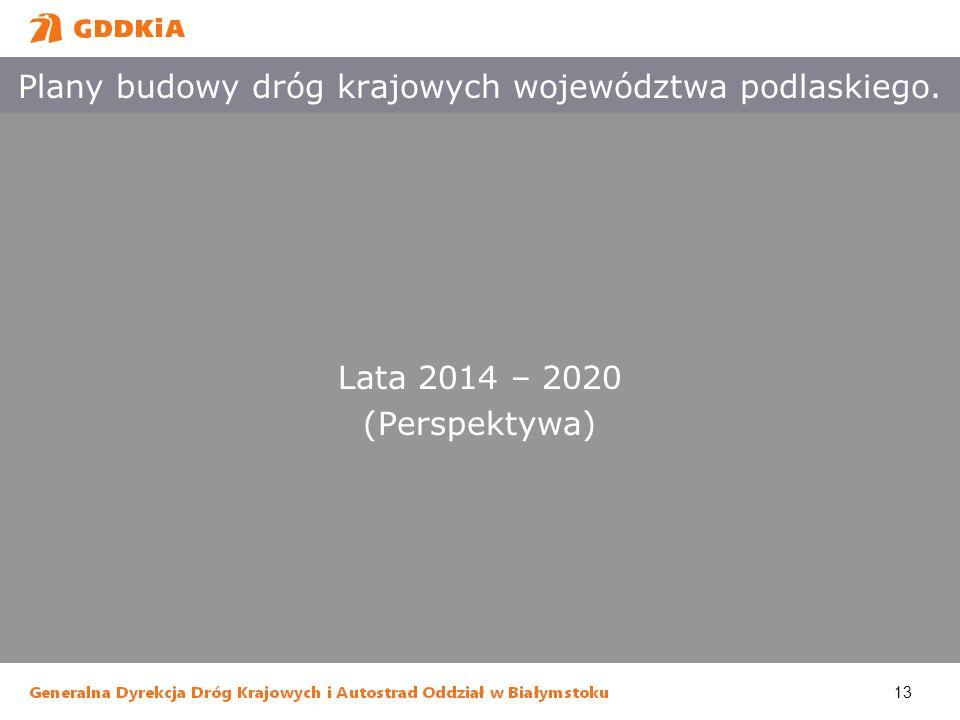 Plany budowy dróg krajowych województwa podlaskiego.
