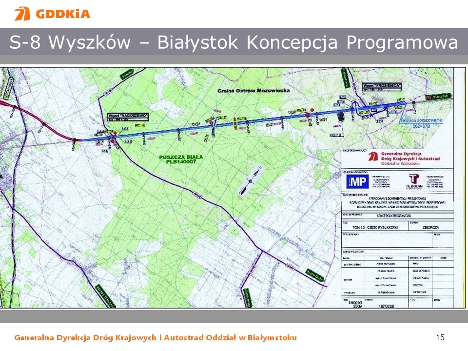 S-8 Wyszków – Białystok Koncepcja Programowa