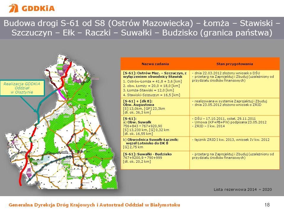 Realizacja GDDKiA Oddział w Olsztynie