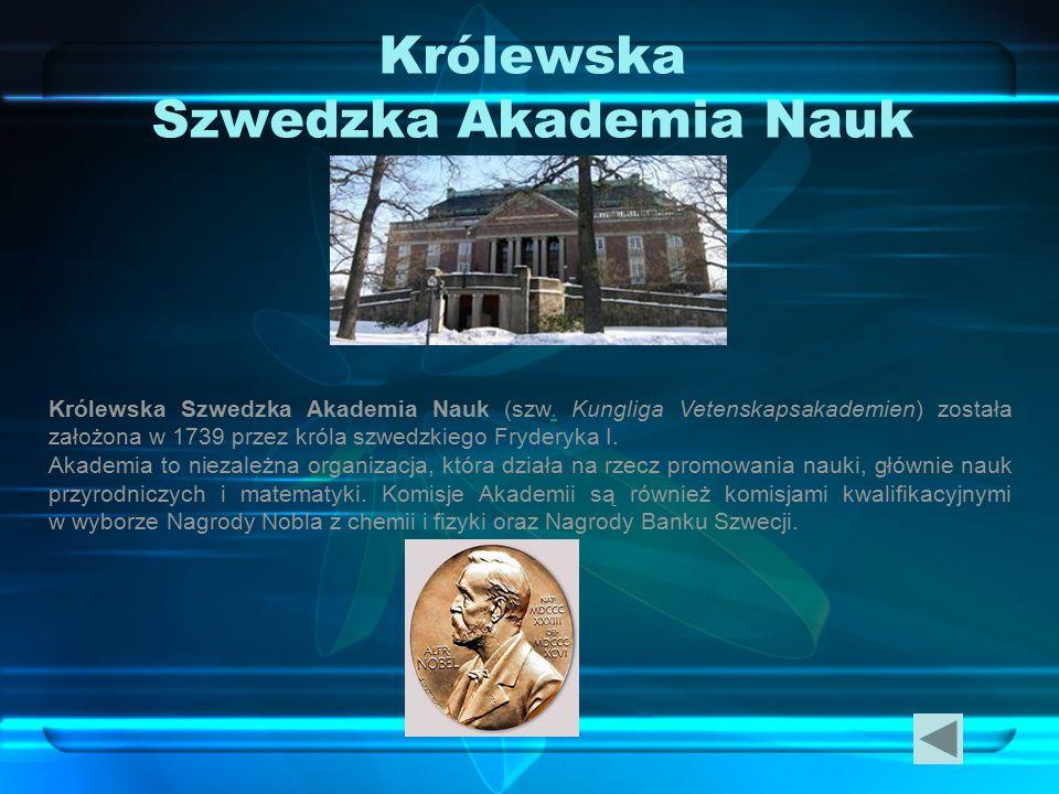 Królewska Szwedzka Akademia Nauk