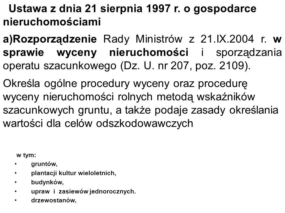 Ustawa z dnia 21 sierpnia 1997 r. o gospodarce nieruchomościami
