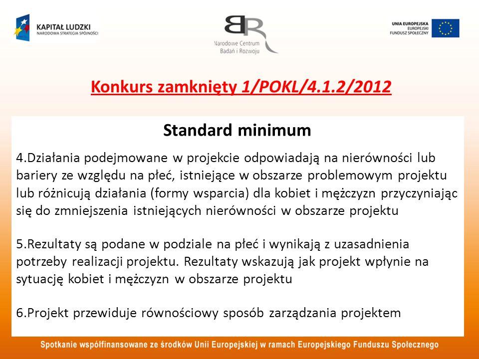 Konkurs zamknięty 1/POKL/4.1.2/2012