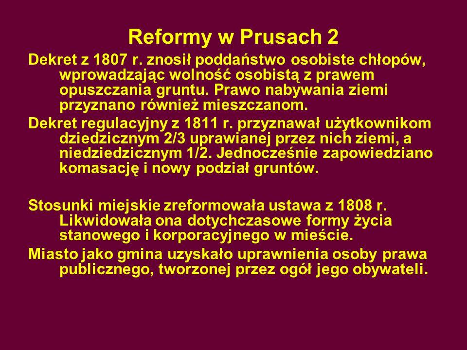 Reformy w Prusach 2