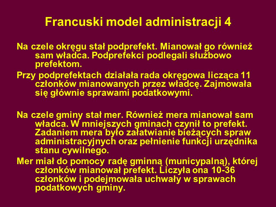 Francuski model administracji 4