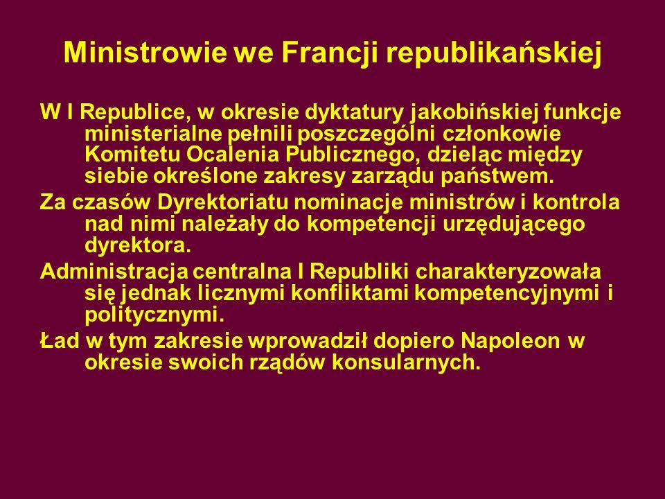 Ministrowie we Francji republikańskiej