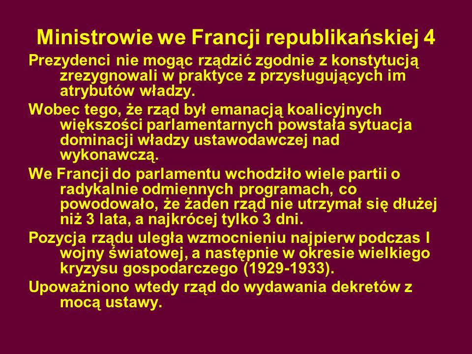 Ministrowie we Francji republikańskiej 4