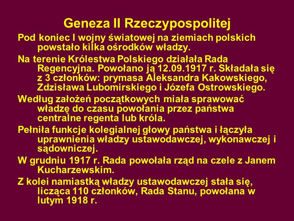 Geneza II Rzeczypospolitej